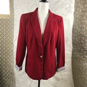 Kenneth Cole blazer with contract sleeve cuffs